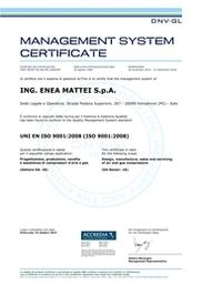 ING. ENEA MATTEI S.P.A. ISO9001